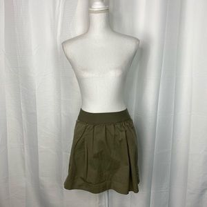 J.Crew Camo Green Cotton Mini Skirt Size 2
